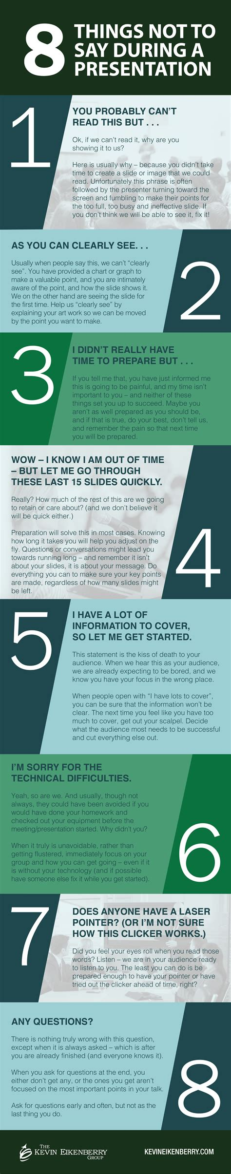 8 Things To Say During by 8 Things Not To Say During A Presentation