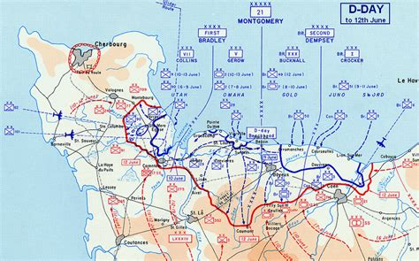 d day map wwii letters to wilma 13 june 1944