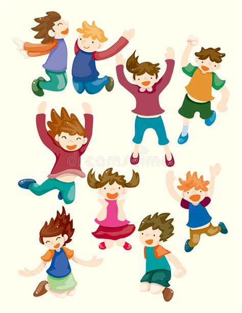 doodle jump x2 child jump icons stock vector image of laugh
