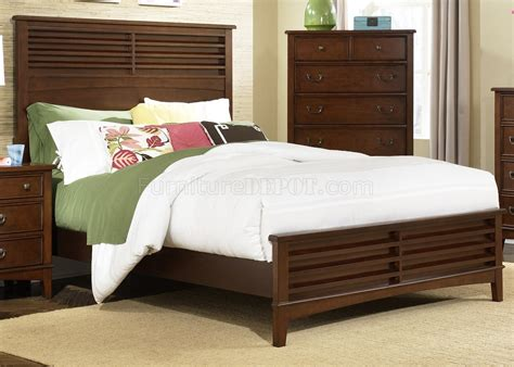 transitional bed burnished tobacco finish transitional style bed w options