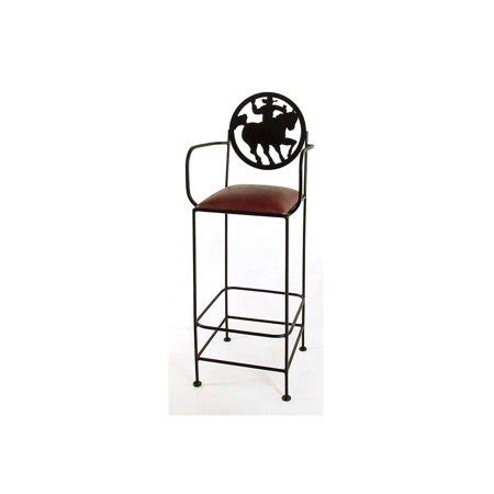 iron bar stools with arms frontier wrought iron bar counter stools with arms 24