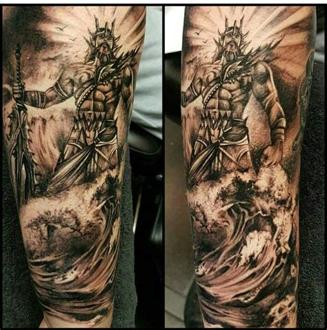 poseidon tattoos poseidon needles tattoos