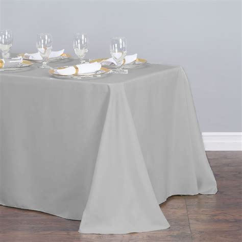 hanukkah tablecloth metallic 70 round 70 in satin tablecloth silver
