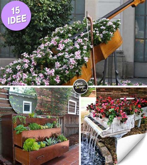 oggetti per giardino arredo giardino riutilizzare i vecchi mobili e decorare