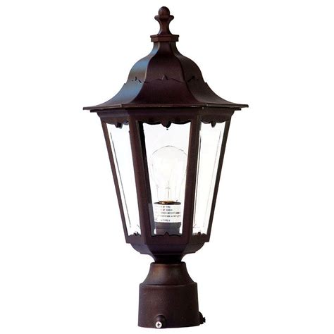 home depot exterior light fixtures acclaim lighting tidewater 1 light architectural bronze outdoor post mount light fixture 47abz