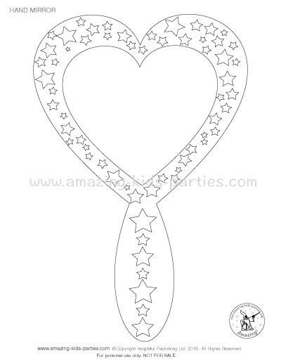 Held Mirror Coloring Page Pages