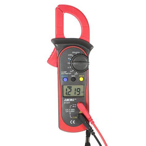 handheld digital lcd display clamp meter multimeter acdc