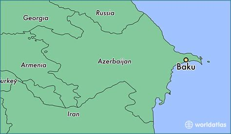 map world az where is baku azerbaijan baku baki map worldatlas