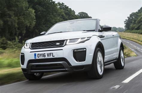 evoque land rover convertible range rover evoque convertible review 2018 autocar