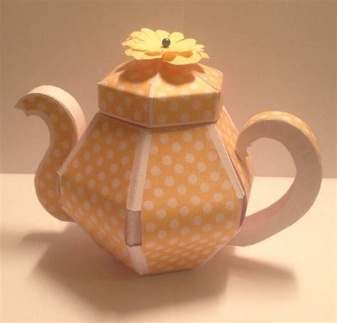 How To Make A Paper Teapot - 22 best images about paper craft gifts on
