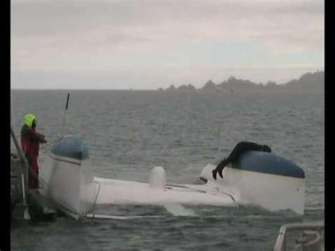 catamaran capsize salvage of capsized racing catamaran catabatic at channel