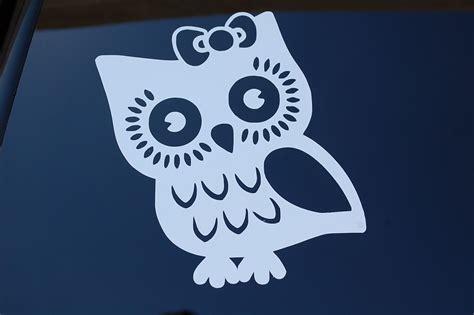 Tree Branch Wall Sticker owl with bow cute vinyl sticker decal v198 jdm car truck
