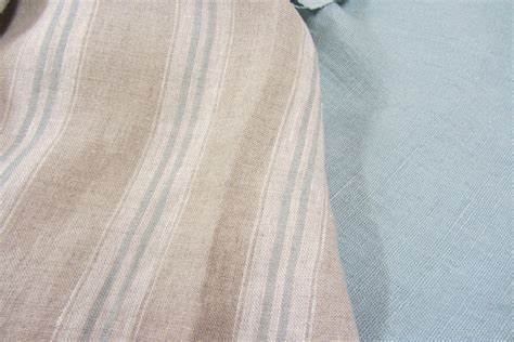 french linen upholstery fabric french vintage linen stripe duckegg curtain craft