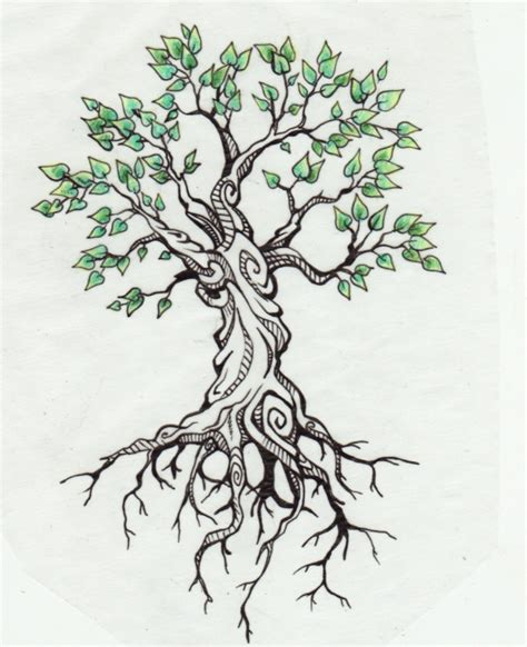 hippie tree tattoo on back of body photos pictures and