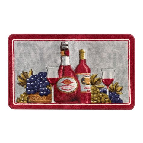 Kmart Kitchen Rugs Essential Home Acrylic Rug Wine And Grapes Home Home
