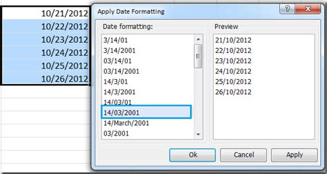 date format quickly change date format in excel