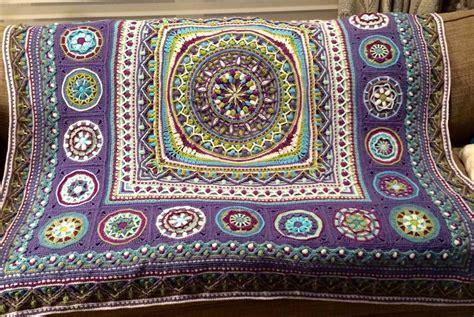 persian dandelion mandala blanket crochet project