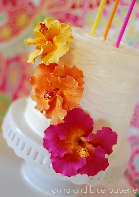Hibiscus Flower Cake Decoration by Items Similar To Made To Order Clay Hibiscus Cake Flowers