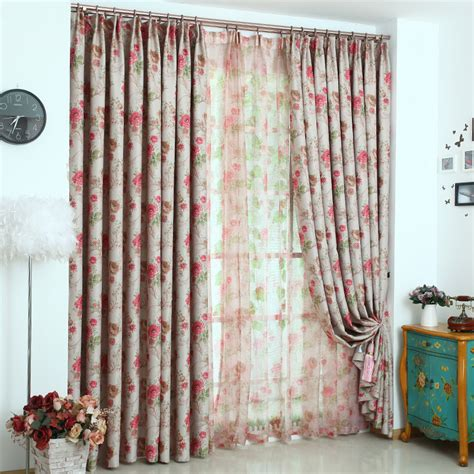 print curtains cheap online get cheap red floral drapes aliexpress com