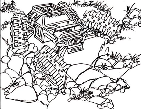 coloring pages of rc cars 5 traxxas summit coloring pages drawing truck 4x4 rc