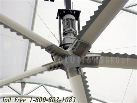 High Volume Low Speed Ceiling Fans by Large Diameter Industrial Fans Reduce Warehouse Heat Increase Productivity
