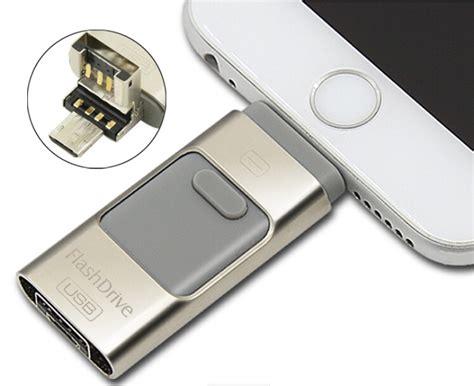 Flashdisk Usb Otg Lightning Usb 16gb Silver flashdisk i flash drive 3 in 1 otg micro usb lightning 16gb black jakartanotebook