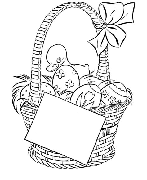 coloring page easter basket with eggs easter eggs coloring part 7