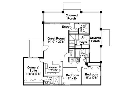 home designs and floor plans craftsman house plans tupelo 60 006 associated designs