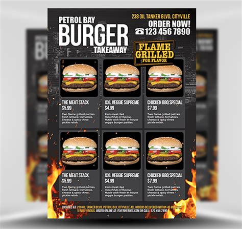 Takeaway Flyer Templates burger takeaway flyer template flyerheroes