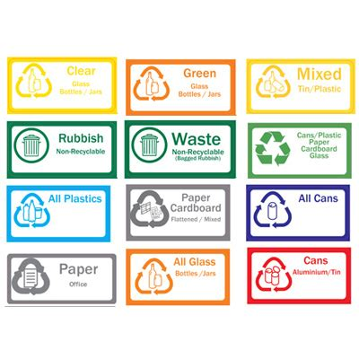 printable recycle stickers recycling bins stations ecosmart warehouse