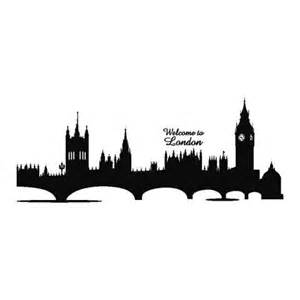 home art and accessories silhouette london skyline wall sticker
