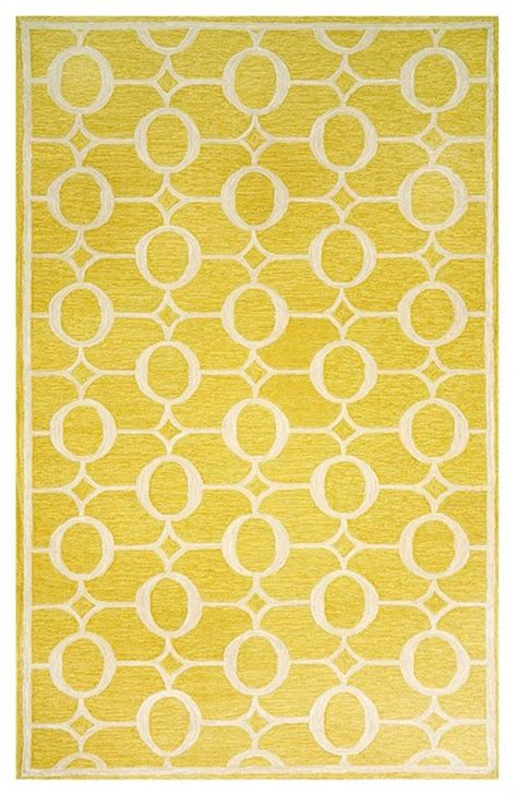 yellow area rugs contemporary liora manne indoor outdoor promenade arabesque yellow area rug contemporary rugs by macy s