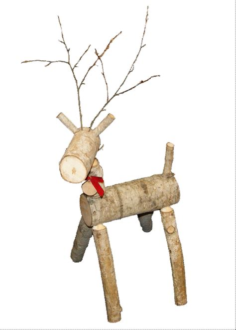 log reindeer lawn ornament
