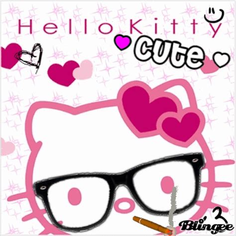 wallpaper hello kitty nerd hello kitty nerd fotograf 237 a 129118097 blingee com