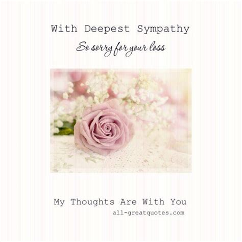Deepest Sympathy Card Template by Sympathy Cards Archives Deepest Sympathy Thoughts And