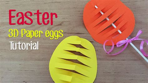 How To Make A Easter Egg Out Of Paper - how to make easter 3d paper egg doovi