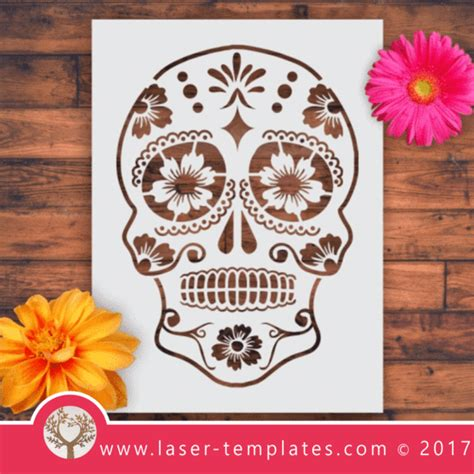 Laser Cut Templates About Angels African Masks Sugar Skulls And More Laser Ready Templates Laser Cut Skull Template