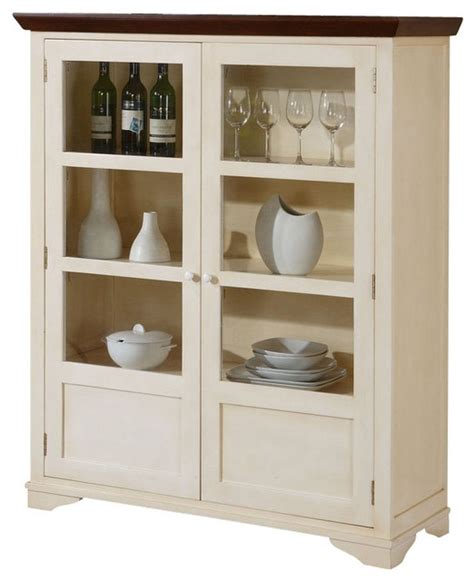 Antique White Sideboards And Buffets monarch specialties display server in antique white transitional storage cabinets