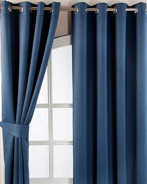 Navy Thermal Curtains Navy Blue Herringbone Chevron Blackout Thermal Curtains Eyelet Style Homescapes