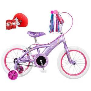 16 quot hello kitty girls bike plus hello kitty child s helmet amp pads