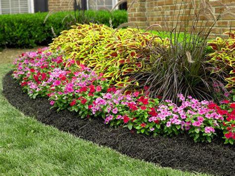 flower garden mulch and rock flower garden with black mulch outdoor decor pinterest