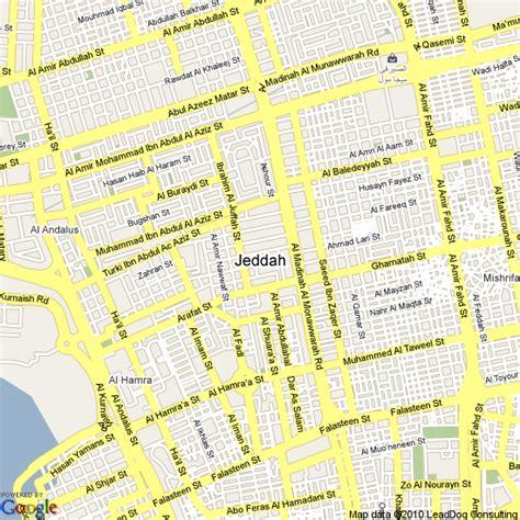 jidda map map of jeddah saudi arabia hotels accommodation