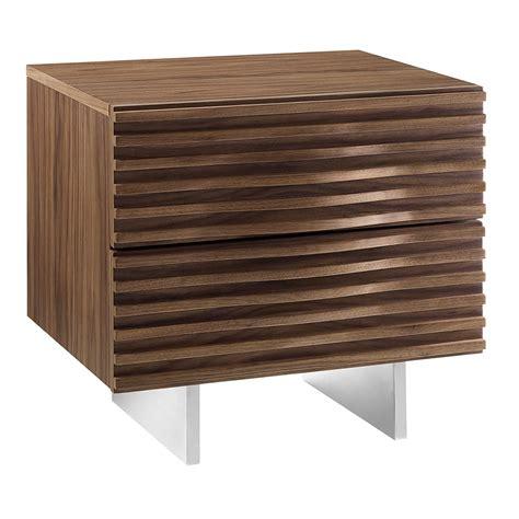 Walnut Nightstand Modern by Modern Nightstands Meander Walnut End Table Eurway