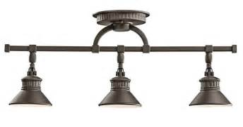 Bronze Kitchen Light Fixtures Bronze Rail Lighting Feel The Home