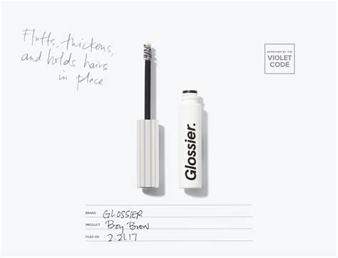 Glossier Boy Brow Grooming Pomade Murah glossier boy brow the violet files violet grey