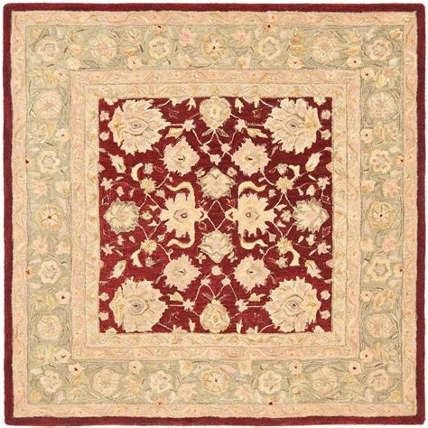 6 Square Area Rug Safavieh Anatolia Moss 6 Ft X 6 Ft Square Area Rug An522d 6sq The Home Depot