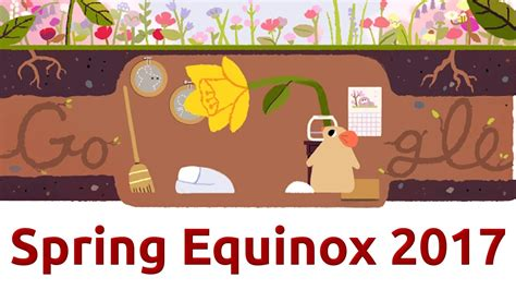 spring equinox google doodle when does the season really spring equinox 2017 google doodle qpt youtube