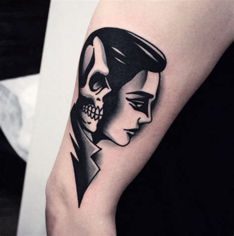 simple black tattoo designs simple blackwork ideas of and skull