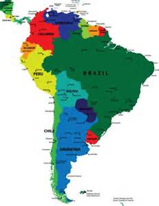 map of countries and capitals of south america map of the continent of south america with countries and