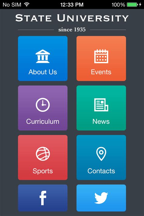 Use State University To Make Your Free Mobile App App Template